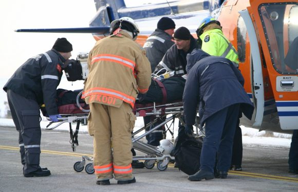 Medical team at accident