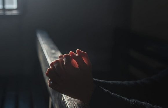 Praying Hands In Church