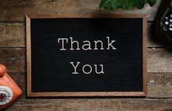 Thank You on a chalkboard