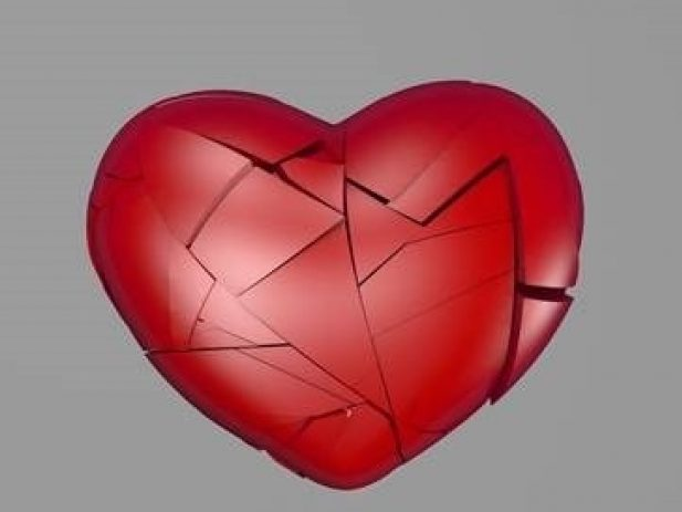 Broken heart being pieced back together