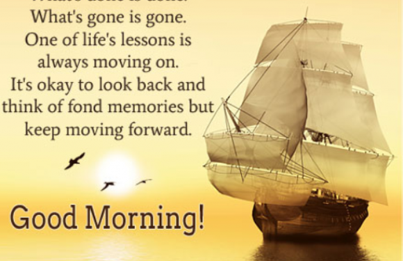 Sailboat on the water with message text